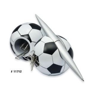 Soccer Penholder w. Clip Dispenser