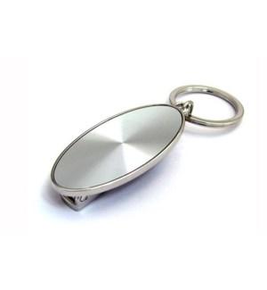 Oval Key Fob w. Handbag Hook