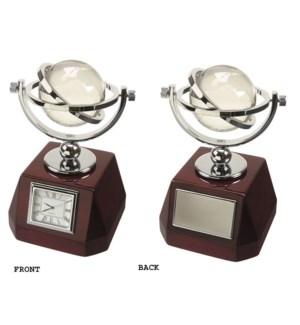 Clock w. Swivel Globe