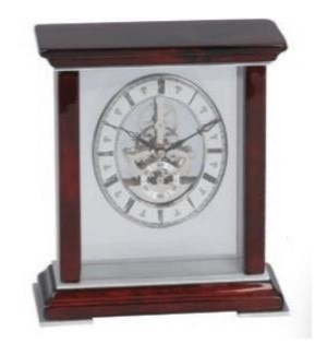 Table Skeleton Clock