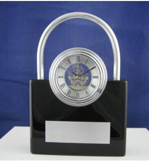 Padlock Skeleton Clock