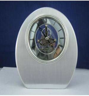 Oval Shaped Skeleton Clock
