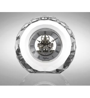Crystal Round Skeleton Clock