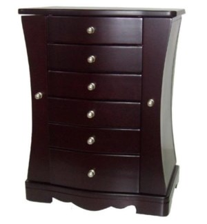 Jewelry Chest w. 5 Drawers & 2 Side Wings