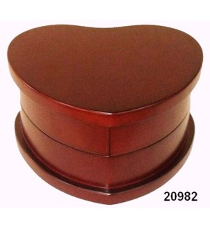 Heart Shaped Wood Jewelry Box