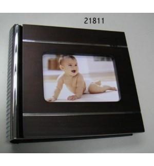 Wood/Silver Metal 100 Pic Album 4x6