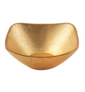 Atlas Square Gold Glass Bowl