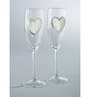 Pair Of Flutes w. Engraving Badge