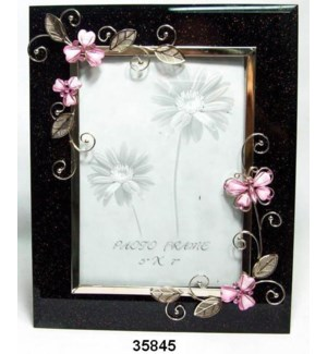"""Pink Butterfly Frame 5x7"""""""