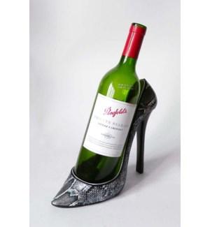 Snakeskin Stiletto Shoe Bottle Holder