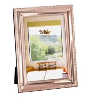 Copper Fin. Beaded Beveled Frame 4x6