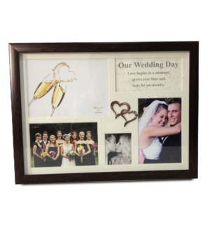 Wedding Day Collage Frame w. Double Heart Icon