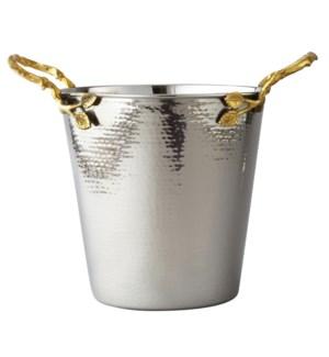 Gilt Leaf SS Champagne Bucket