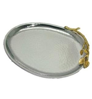 Gilt Leaf SS Oval Platter