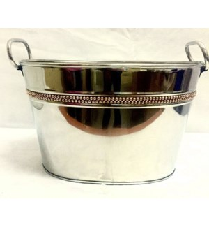 Copper Rivet Band Oval Party Tub