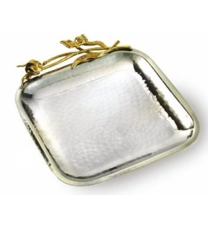 Gold Butterfly SS Square Tray
