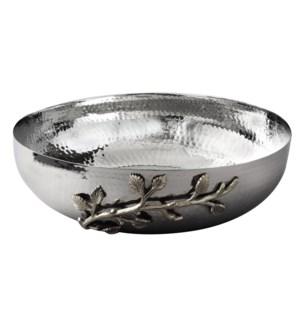 Silver Leaf SS Salad Bowl