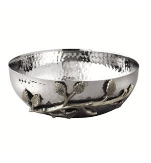 Silver Leaf SS Bowl