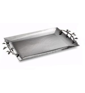 Silver Leaf SS Rectangular Tray