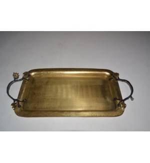 Satin Gold Eleanor Rectangular Tray