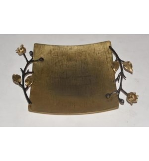 Satin Gold Eleanor Square Tray