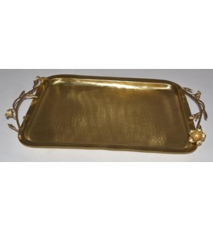 Satin Gold Eldora Rectangular Tray
