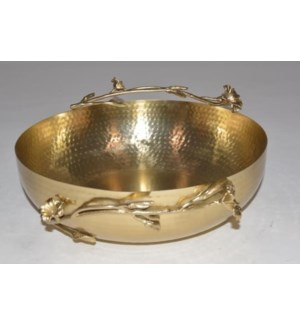 Satin Gold Eldora Salad Bowl