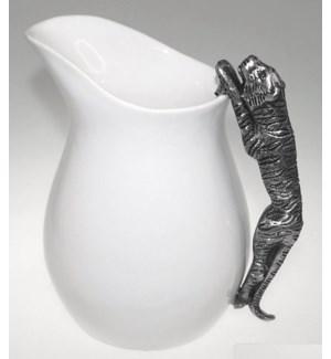Ceramic Water Pitcher w. Tiger Handle