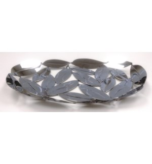 SS Oval Leaves Platter