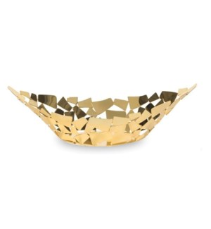 Golden Facets Boat Bowl