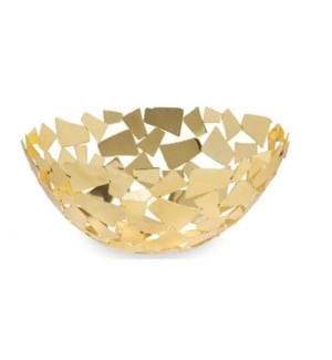Golden Facets Round Basket