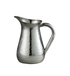SS Hammered Water Pitcher