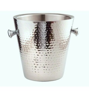 SS Double Wall Hammered Champagne Bucket