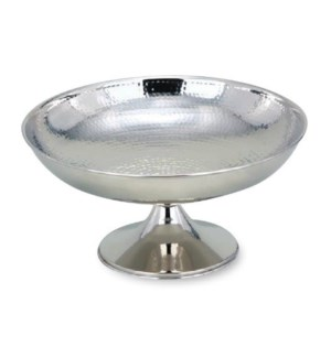 SS Hammered Ftd Centerpiece Bowl