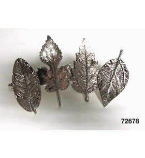 Assorted Leaf Napkin Rings S/4