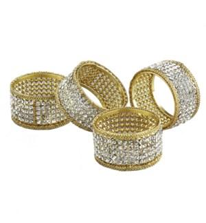 S/4 Brilliant Napkin Rings