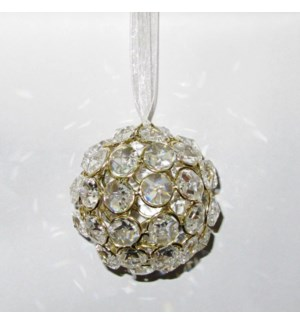 Crystal Ball Ornament Gold Colour