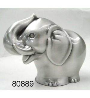 Pewter Finish Elephant Bank