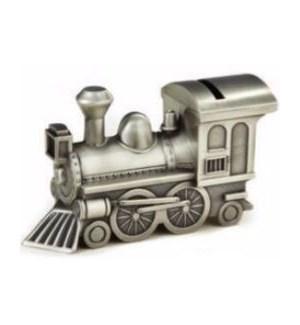 Pewter Finish Train Bank