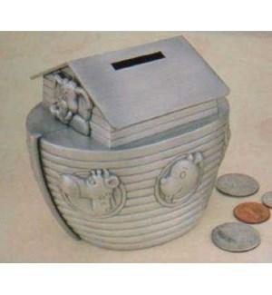 Pewter Finish Noah'S Ark Bank