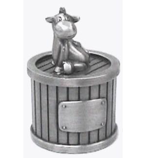 Pewter Finish Donkey Tooth Box