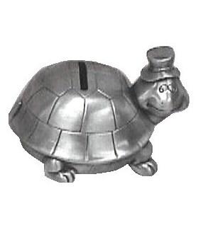 Pewter Finish Turtle Bank