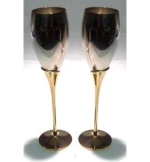 Tulip 2-Tone Flute Goblets Pair