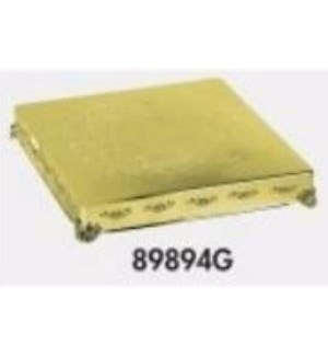 Gold Finish Square Cake Plateau