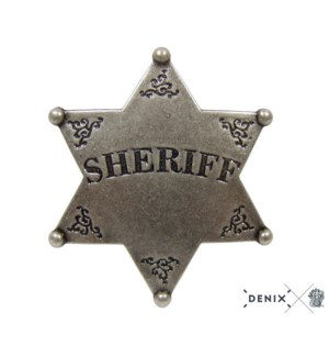 Replica Silver Sheriff Badge