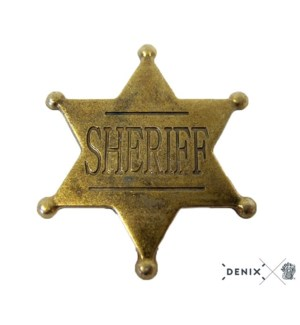 Replica Six Point Ball Tipped Sheriff Star Badge