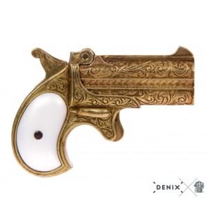 Replica Double-Barreled Derringer Pistol, 41 Caliber