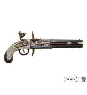 Replica English Double-Barreled Turnover Pistol