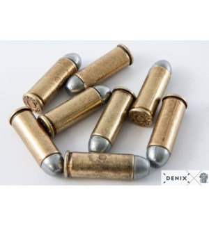 Replica Two-Tone Revolver Bullets, Set of 6