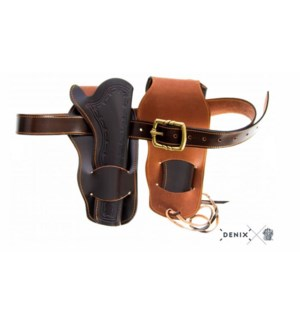 Replica Western Leather Cartridge Double Holster